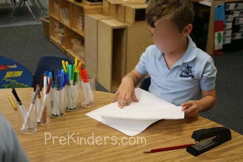 How To Make A Book Cover Without Tape : Bookmaking in pre k prekinders