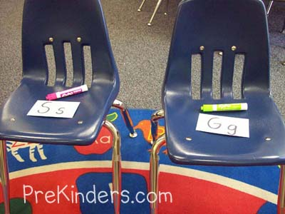 musical chairs letter game
