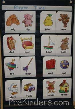 rhyming cards pocket chart
