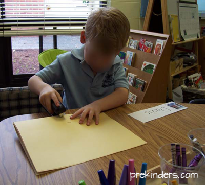 Making Books in Pre-K