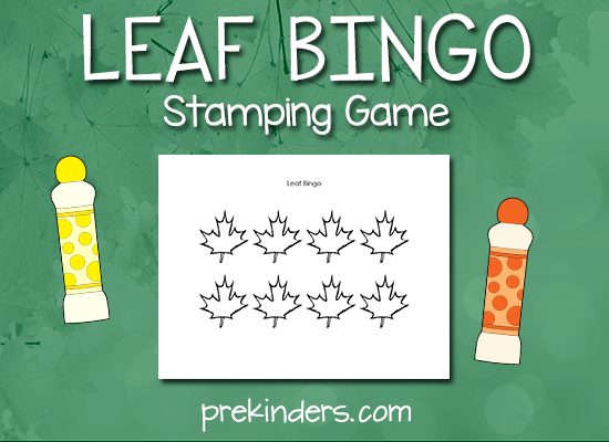 Leaf Bingo Stamping Game