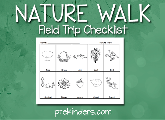 Nature Walk Checklist