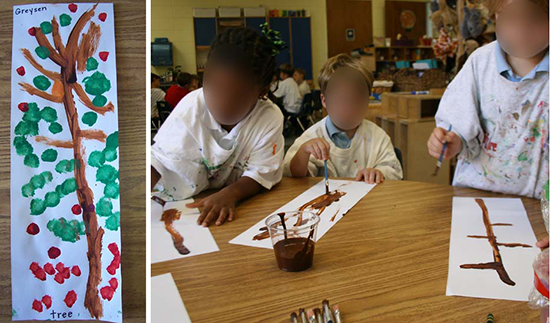 Tree Painting in Pre-K