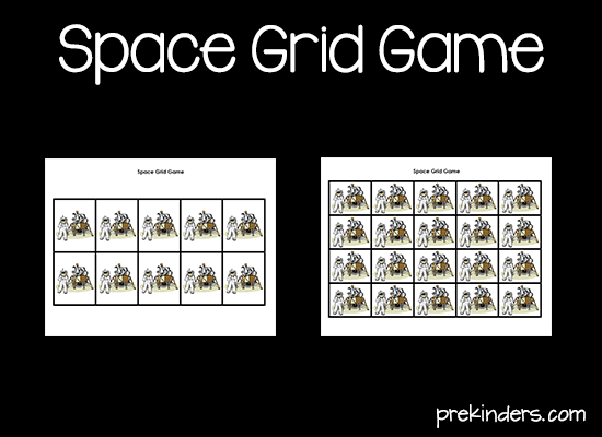 Space Grid Game Printable