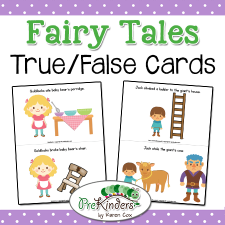 True False Fairy Tale Cards