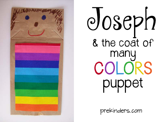 Joseph and the Coat of Many Colors Puppet