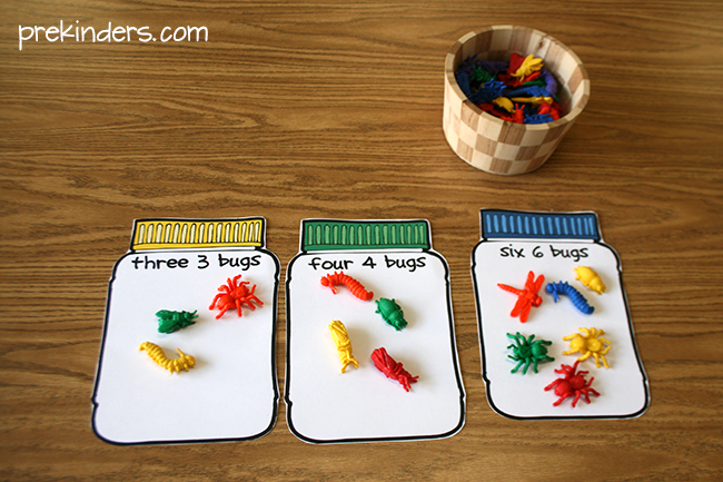 Bug Math Counting - Pre-K Preschool