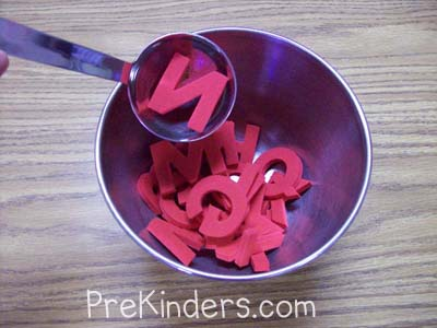 Alphabet Soup: alphabet letter identification activities