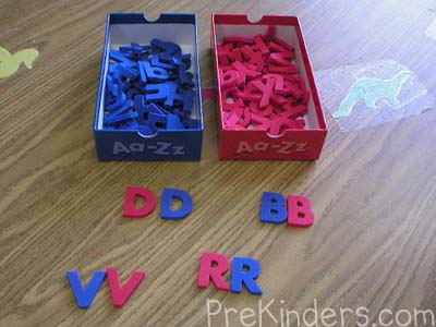 Letter Matching: alphabet letter identification activities
