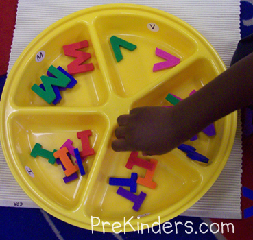 Letter Sorting Tray: alphabet letter identification activities