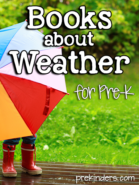 Books about Weather for Pre-K