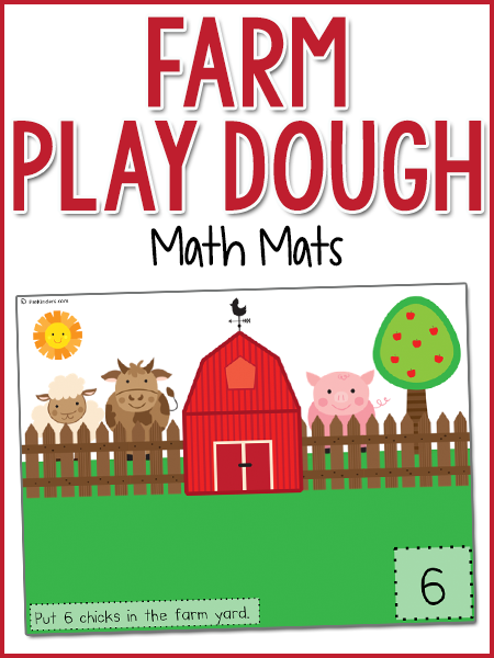 Farm Play Dough Math Mats