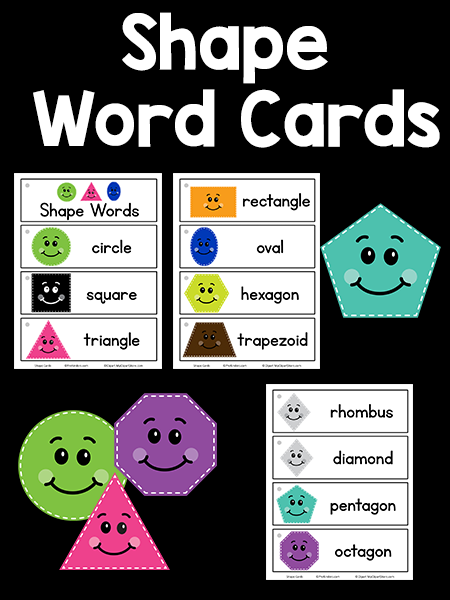 Shape Picture-Word Cards