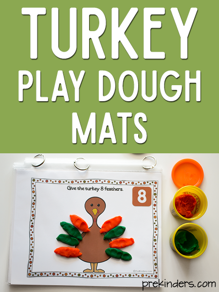 Turkey Play Dough Math Mats
