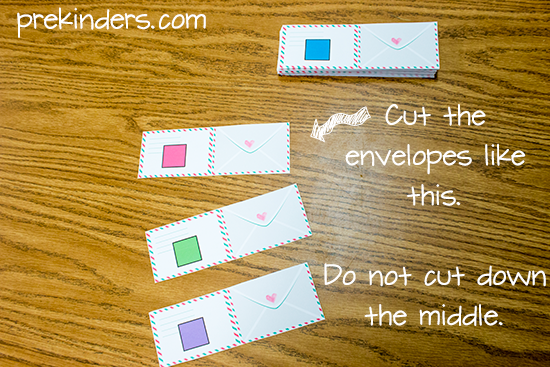 Mailbox Math: How to make the envelopes