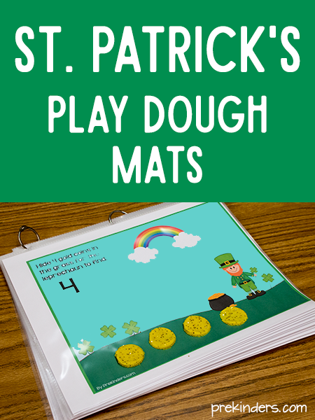 Leprechaun Play Dough Mats