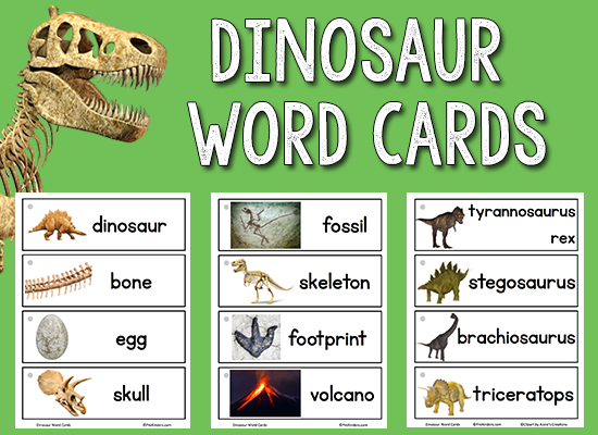 Dinosaur Picture-Word Cards
