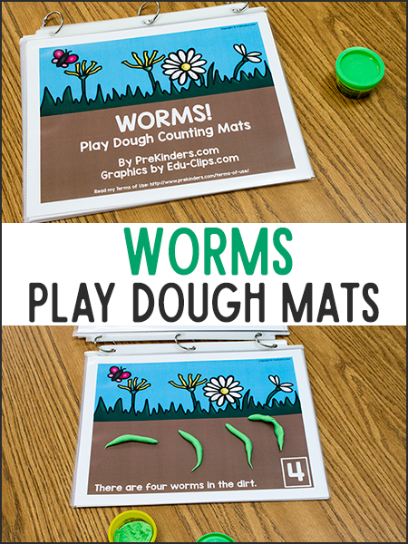 Worms Play Dough Math Mats