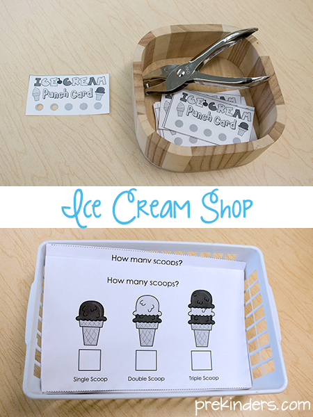 ice cream shop printables