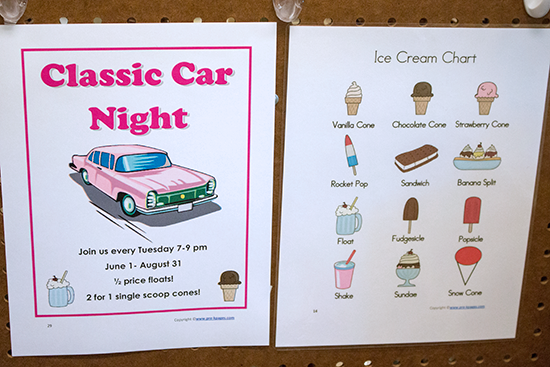 Ice Cream Shop Signs: Preschool Dramatic Play