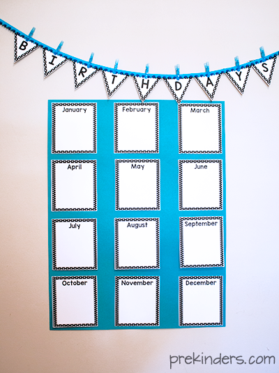 Birthday crown certificate chart prekinders for Birthday chart template for classroom