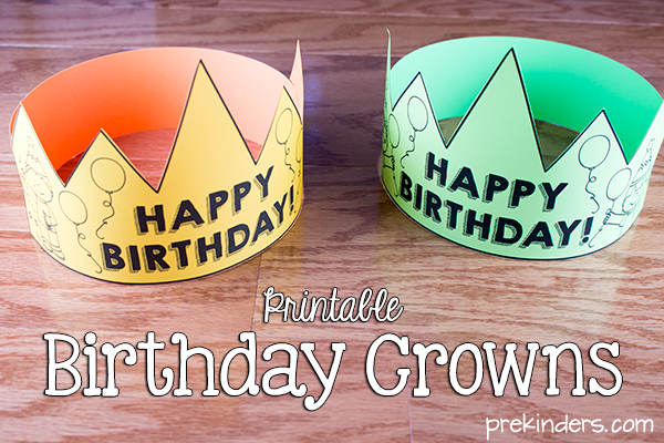 Birthday Crowns, Certificates, & Chart for Your Classroom