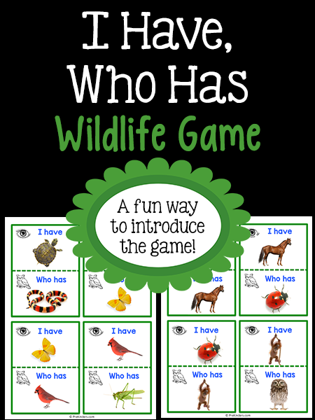 """Wildlife """"I Have, Who Has"""" Game"""