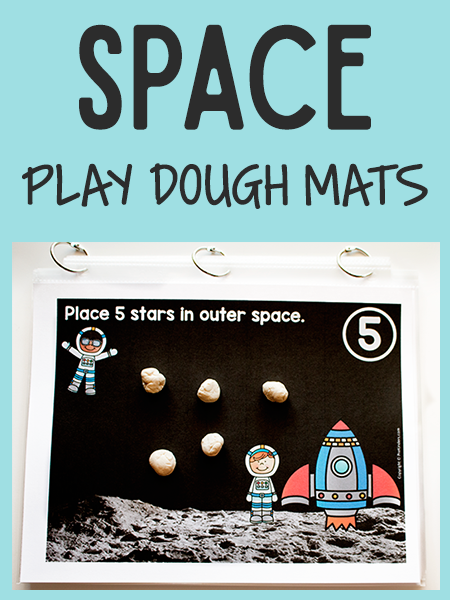 Space Play Dough Math Mats
