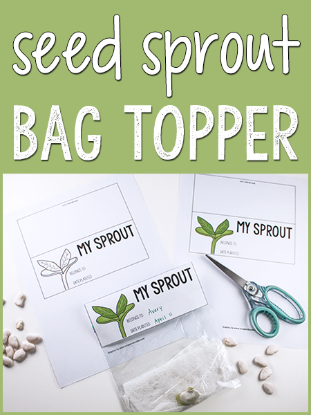 Seed Sprout Bag Topper Printable