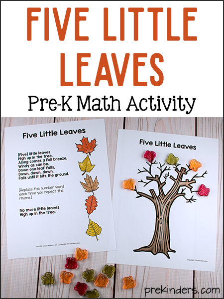 Five Little Leaves Math: Simple Preschool Subtraction Game