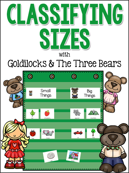 Classifying Sizes with Goldilocks & the Three Bears