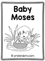 Baby Moses Print & Fold Book