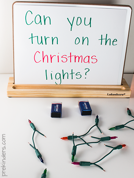 Christmas Lights Science for Preschool, Pre-K Kids