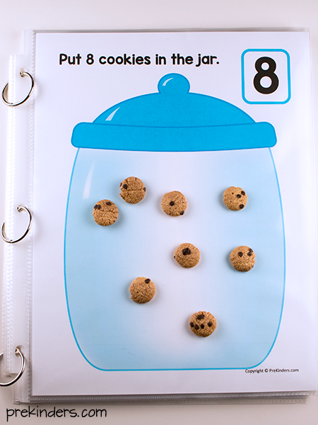 Cookie Jar Counting Mat with Cookie Crunch Cereal