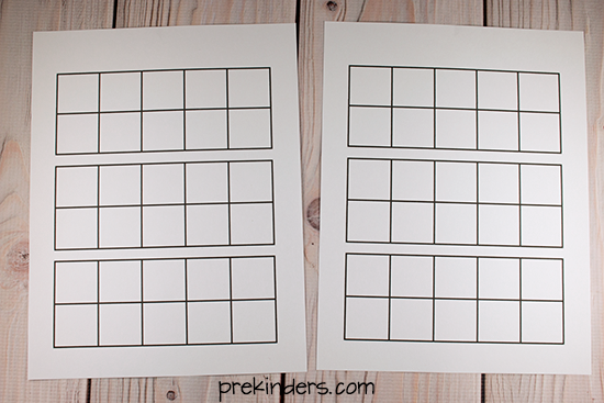 10 Frame Puzzles Grid Sheet