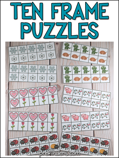 Ten Frame Puzzles
