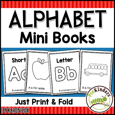 Alphabet Mini Books: print & fold